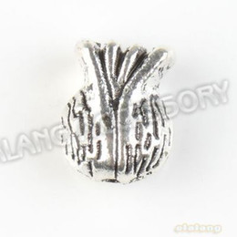 Wholesale Alloy Seaweed Antique Silver Beads Straight Hole Fit Handcraft DIY