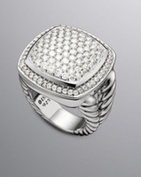 Wholesale 925 silver ring design jewelry silver jewelry ring mm pave diamond albion ring