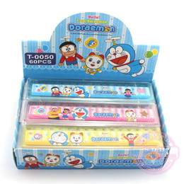 Fashion Doraemon Cartoon Plastic Office rulers,60pcs Novelty Stationery Christmas School gift Ruler