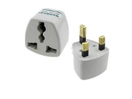 Wholesale Socket Outlet Converter - EU AU US to UK AC power plug travel adapter outlet converter socket white 20pcs lot CN POST