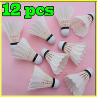 Wholesale Hot SellinG Training White Goose Feather Shuttlecocks Birdies Badminton Ball Game Sport