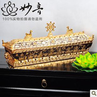 Wholesale Buddhist supplies pure copper gilt true gold eight auspicious the Ssangyong lying furnace