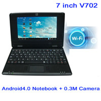 Wholesale New inch Android Notebook V702 VIA DDR3 M GB HDD HDMI Camera WIFI RJ45 Netbook Free S