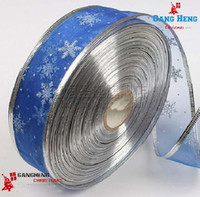 Wholesale Christmas tree decor ribbons blue red white ribbon cm ribbon seal Christmas gifts