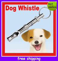 Wholesale Sample order Silver Amazing Adjustable Pitch UltraSonic Sounds Whistle for Dog Training Pet Supplies High Quality