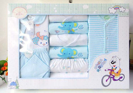 Wholesale Newborn Layette Sets Children s Gift Sets Infant Underwear Suit and Nursing towel Baby Wear