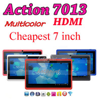 Wholesale Actions Inch Muti color Haipad Capacitive Android Epad Tablet PC GB Q88 A13 Sanei N10 A5
