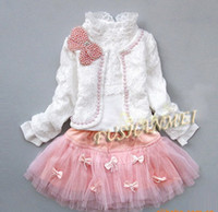 Wholesale Latest Japanese and Korean version of the children s clothing girls fashion three piece