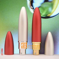 Wholesale 6ML Zeppelin Refill Atomizer Perfume Metal Glass Bottles Spray Plain Rocket Mini Travel Scent Bottle