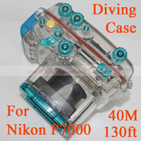 Wholesale Waterproof camera case for Nikon P7000 when diving on M Underwater Camera Case when Rainning