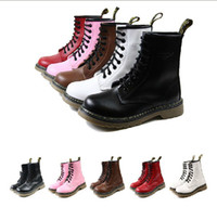 Wholesale new Top women and men Cowskin holes Martin boots genuine leather durable ankle bo