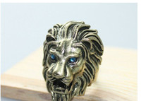 Unisex ring size 4 - Size Individuality Lion Shape Vintage Rings For Men