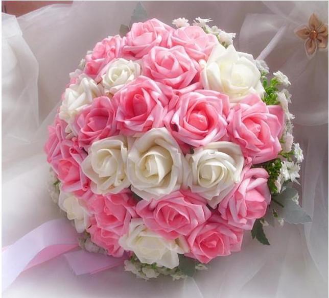 Bridal Bouquet Tied Rose Bridal Wedding Bouquet With Ribbon Bridal ...