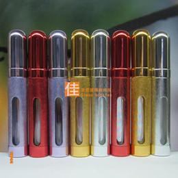 Wholesale 12ml Popular Refillable Perfume Travel Set Glass Bottle Atomizer Metal Spray Bottles Fragrance Vial
