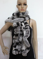 Wholesale Highly Recommend rex rabbit fur scarfs wraps scarves handmade soft amp warm