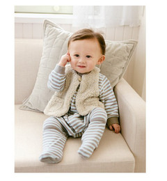 Wholesale polar fleece baby boys wool vest Reversible waistcoat warm child winter cloth