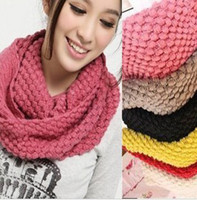 Wholesale Fashion Lovely Girls Women s Knit Neck Cowl Wrap Scarf Corn Shawl Knitting Wool Warmers