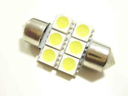 10 * Lumière intérieure de LED a conduit ampoules de voiture d'ampoule de voiture Lumière de LED / carte / lampe de porte PUISSANCE ÉLEVÉE 6 SMD 5050 blanc Festoon 31mm 6 5050 SMD Lumière de dôme de voiture de LED à partir de cartes haute fabricateur