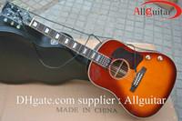 acoustic electric guitar - John Lennon signature th J E acoustic Dreadnought guitar Sunburst acoustic electric guitar