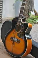 Wholesale singlecut acoustic Dreadnought guitar Vintage Sunburst Fishman Pickups acoustic electr guitar