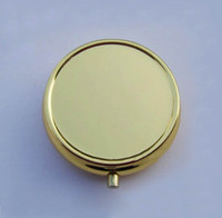 Cheap Golden Pill Boxes DIY Metal Pill Organizer pill case & container Free Shipping