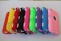 Wholesale 50pcs White Inside Impact Armor Defender Hard Shield Case Cover for Apple iPod Touch th GEN