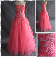 Wholesale 2012 New Tulle Strapless Empire Beaded Bodice With Ball Gowns Floor Length Skirt Prom Dresses
