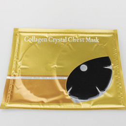 Wholesale 20pcs Collagen Bionic Crystal Chest Mask colors Solid Abundance Of Tender
