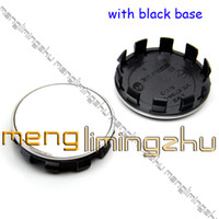 Wholesale TOP D mm Wheel Center Caps Emblem with Aluminum logo Base is Black