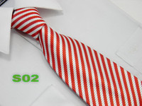 Wholesale high quality New Silk Men s Tie Necktie mix style Stripe Neckties
