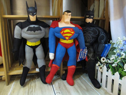 2017 superhéroes juguetes de peluche DC Super Heroes Superman movilización general Batman Negro Máscara juguete de peluche 16