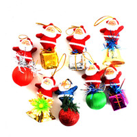 Wholesale Christmas Decoration Santa Claus Pendant Toy christmas tree ornaments Lovely Party Gifts