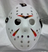 Wholesale plastic Jason mask Hockey mask halloween mask white