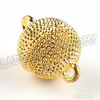 Wholesale Golden Plated Copper Latest Styel Round Magnetic Toggle Clasp mm Fit Jewelry Findings