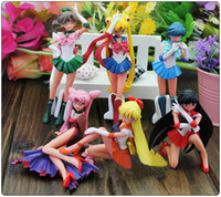 Wholesale Anime Sailor Moon Cartoon PVC Action Figure Dolls Toys Set of