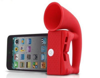 Wholesale Horn Stand Amplifier Speaker case for iPhone G S phone radiation proof Stander Speakers