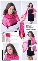Wholesale chiffon scarf heart print chiffon scarf fashion lady shawl scarf