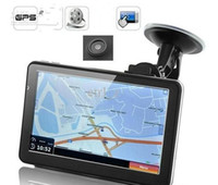 Wholesale quot Touchscreen GPS Navigator with DVR Video recorder Bluetooth AV IN with GB map POI