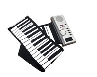 Wholesale New arrival Keys Roll piano keyboard Musical Instrument with LCD Roll up soft Digital Piano