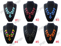 6PCS LOT New Fashion Women Bubble Bib Statement Necklaces 6 ...