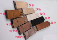 Wholesale XMAS Hot selling pairs men s women s sheepskin gloves glove with Warm winter
