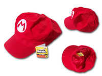 Wholesale High Quality Super Mario hat Super Mario Bros Anime Cosplay Hat Super Mario cap Cotton Baseball Hat