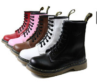 Wholesale Lavigne Top layer Cowskin holes Lovers Martin boots genuine leather durable ankle boots