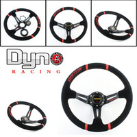 Wholesale Hotsale mm MOMO Deep Corn Suede Leather Drifting Steering Wheel