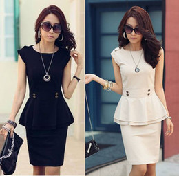 Wholesale Evening Party Dress New Woman Peplum Business Suit Blazer Tops Skirts Outfits