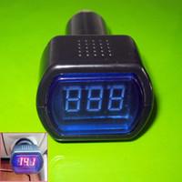 al por mayor de vía métrica voltaje de la batería-Sistema de carro del coche LED Digital del voltímetro del voltaje de la batería del calibrador del metro de voltio 12V 24V