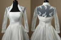 Lace   Real Model supreme lace bridal wedding dress jacket with long sleeves beautiful only jackets SD-022