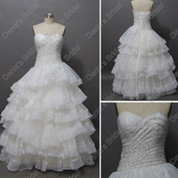 Wholesale Silver Beaded Sweetheart Ruched White Quinceanera Debutante Dresses Gown Actual Real Images DB207