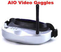 Wholesale 5 Ghz KM Pan Tilt Head Tracker video camera AIO Video Goggles wireless receiver for Fpv