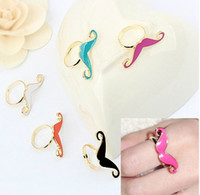 South American adorable rings - Personalized Rings Metal Texture Adorable Mustache Opening Rings